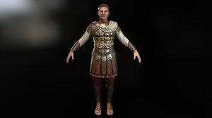 3D roman aristocrat caesar