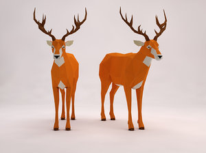animation deer setup model