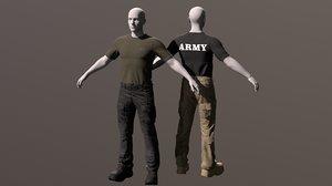 tactical clothing boots pants model