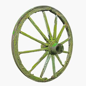 3D model old wheel hd 8k