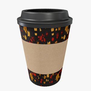 3D coffee cup