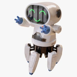toy robot character ready 3D model