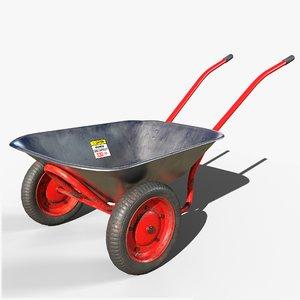 wheelbarrow gameready 3D