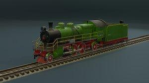3D locomotive train vehicle model