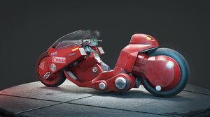 3D akira motorcycle