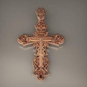 3D model christian cross cnc print