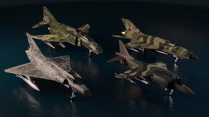3D model cold war fighters set