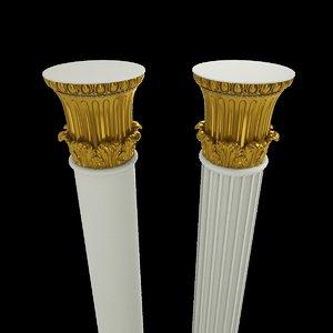 column architecture 3D model