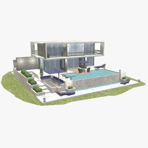 3D model luxury villa -