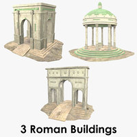 Roman Buildings Collection - 2 - Low Poly - Textured