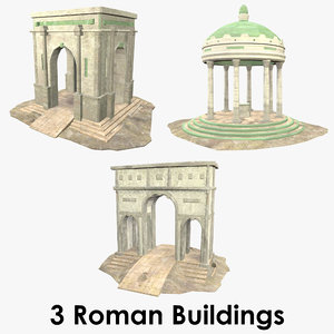 roman buildings - 3D model