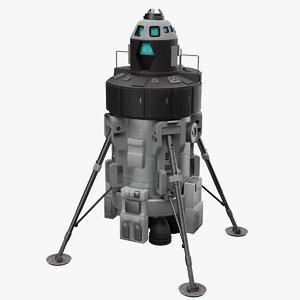 3D manned lunar lander
