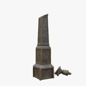 tombstone tomb 3D model