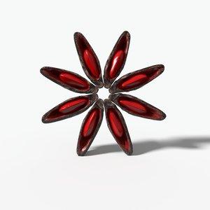 3D star spice powder anis model