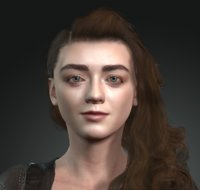 Maisie Williams: Arya Stark Game of Thrones  GOT the famous hollywood star 3D design Ready for anima(1)
