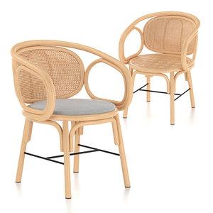 3D chair armchair dining
