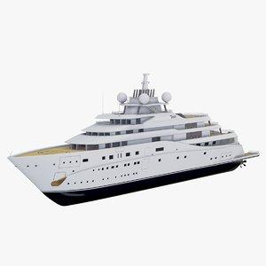 3D super superyacht topaz ship