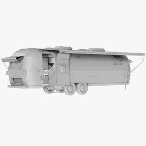 mesh travel trailer - 3D model