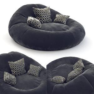 sofa furniture seating 3D
