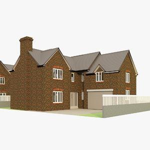 3D 4 houses