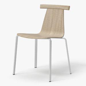 modern stackable chair 3D model