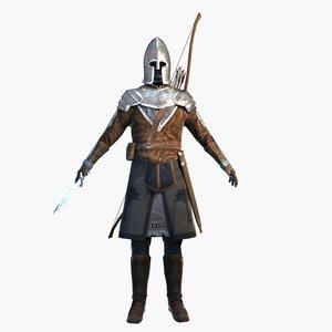 archer costume 3D model