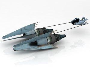 3D ebe racer anakin pod