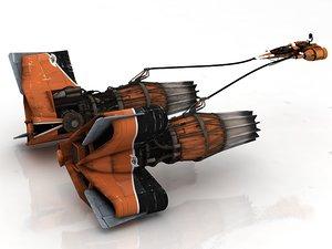 sebulba pod racer anakin 3D