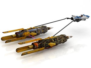 3D model racer anakin pod