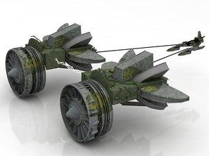 3D marsguopod racer anakin pod
