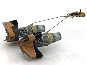 3D sebulba pod racer anakin