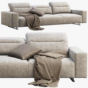 boconcept hampton 3-seater sofa 3D model