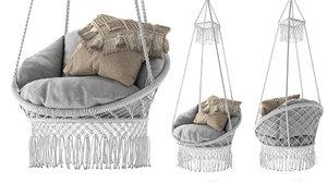 macrame chair fringe model