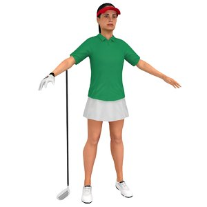 3D female golf
