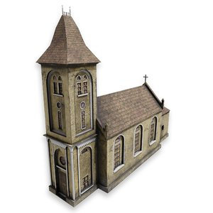 post church 3D model