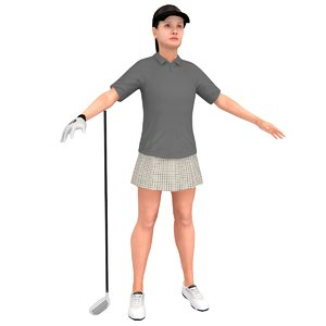 female golf woman 3D