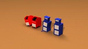 3D newspaper machine mail box