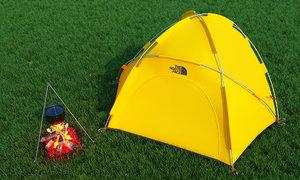 tent camp 3D model