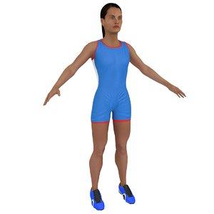 3D female athlete model