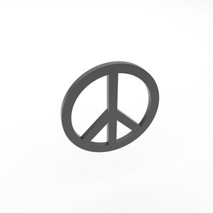 peace symbol model