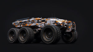 3D technical vehicle transporter car model