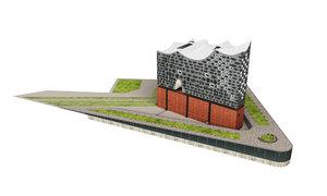 hamburg elbphilharmonie highpoly building 3D