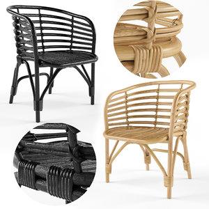 3D armchair indoor chair