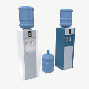 3D low-poly water cooler model