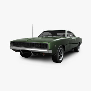 dodge charger rt 1968 3D
