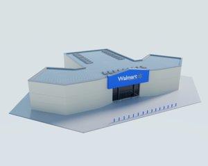 3D walmart shopping center
