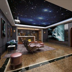 interior scene home bar 3D model