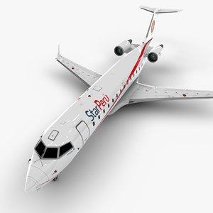 peru bombardier crj 200 3D model