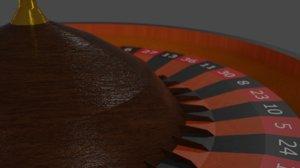 roulette gold gaming 3D model