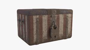 vintage ballot box 3D